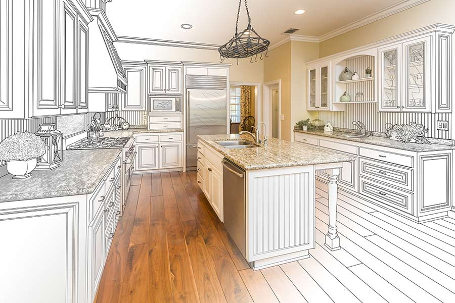 architectural drawings kitchen design
