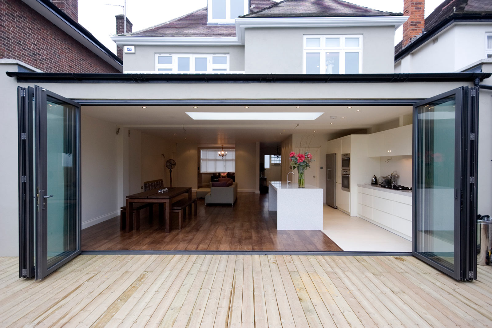 house extension in Kent with bi-fold doors