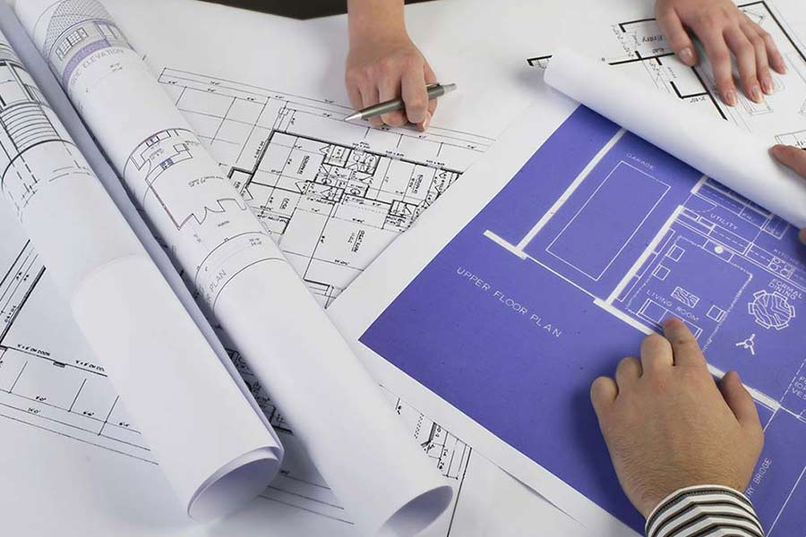 building plans blue prints