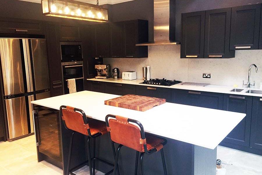 dark grey modern kitchen