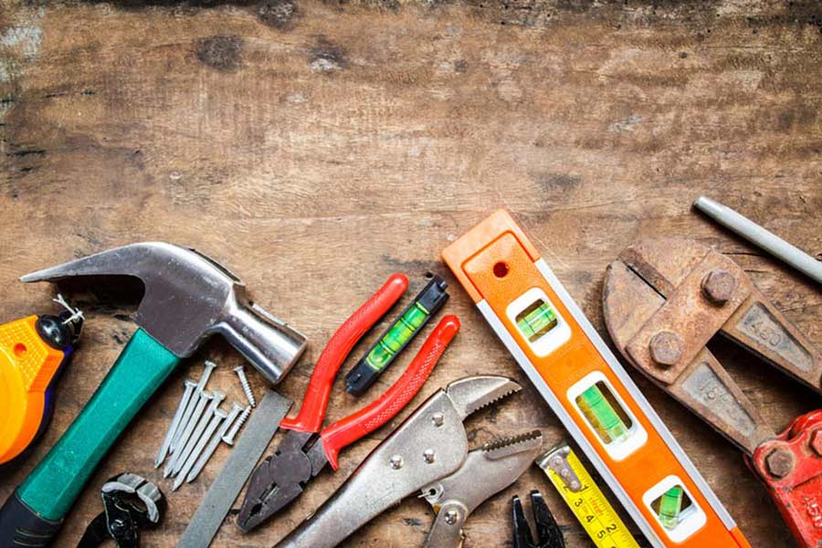 DIY workman building tools