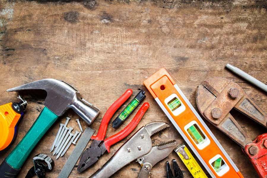 DIY workman building tools