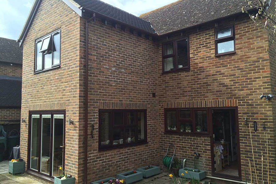 side view of a double storey house extension in Tonbridge Kent