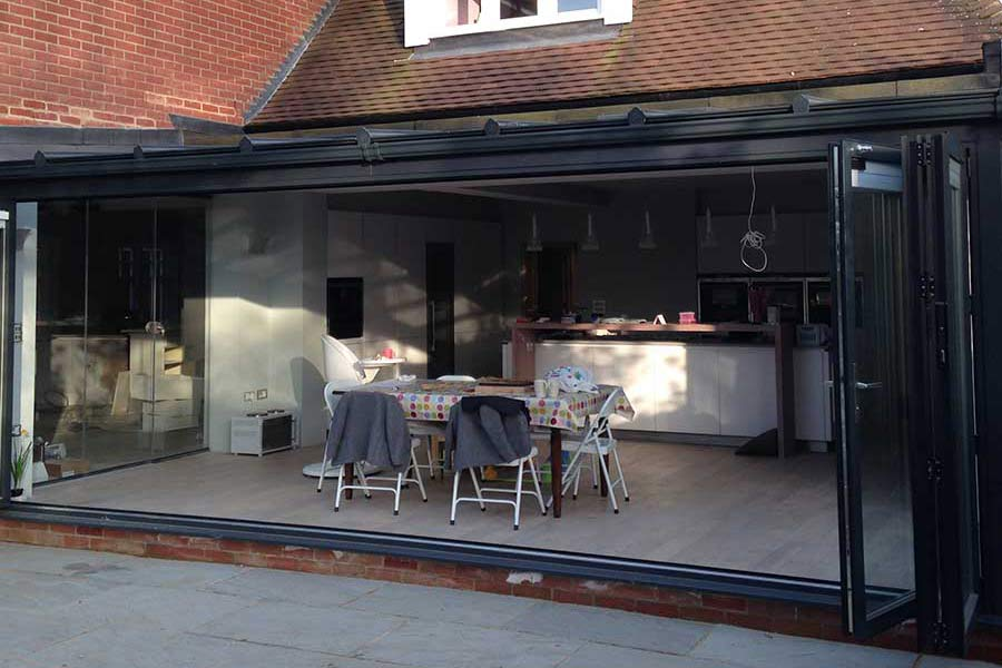 glass house extension in Kent