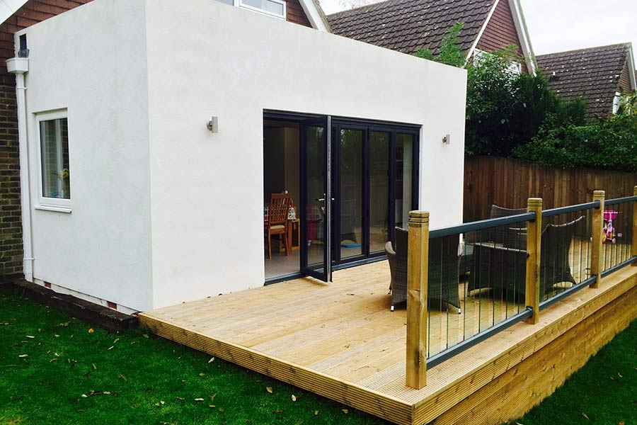 house extension with outside decking