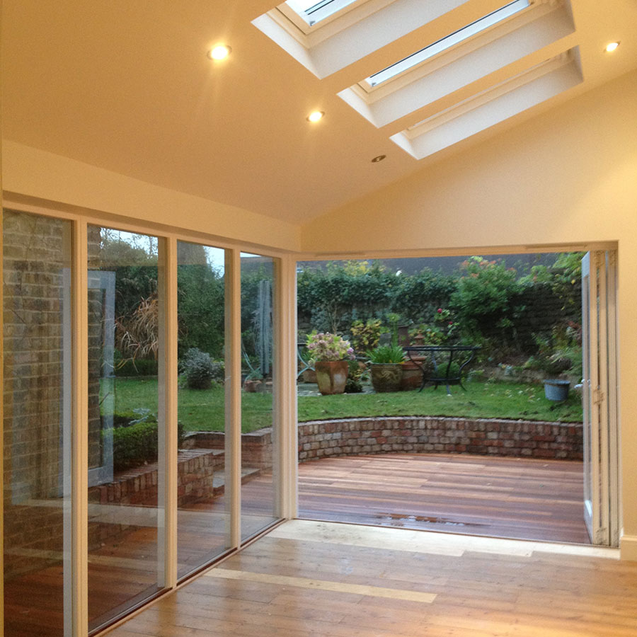 inside of a garden room in Sevenoaks Kent