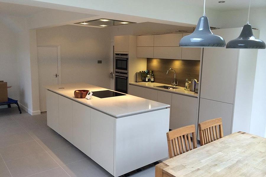 new white modern kitchen extension Kent