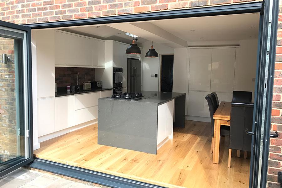 open bi-folds kitchen