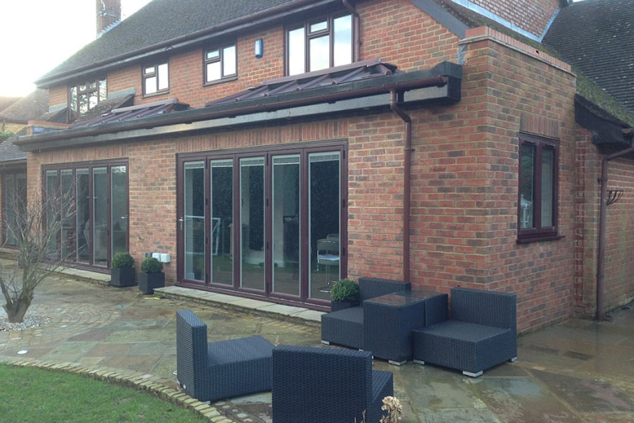 outside view of a orangery extension Langton Green