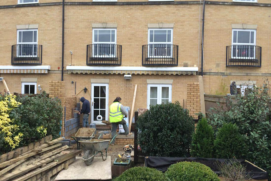Paddock Wood orangery under construction