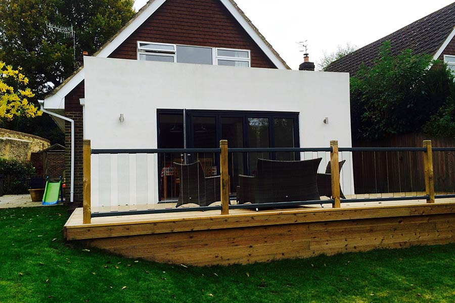 single storey rear house extension in Tunbridge Wells Kent