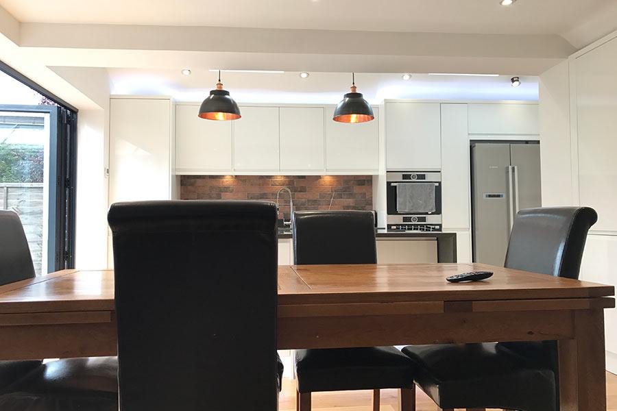 white kitchen extension